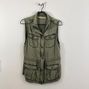 MAX JEANS Cargo Utility Olive Green Vest S